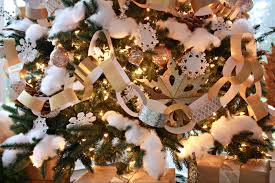 paper and snow inspired christmas tree