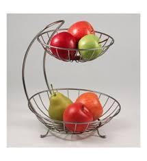metal fruit basket two tier curved fruit basket hotel breakfast hub