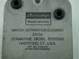 stanadyne diesel fuel filter water separator system 24154