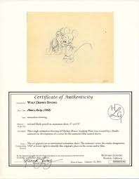 auction howardlowery disney pluto u0027s party animation drawing