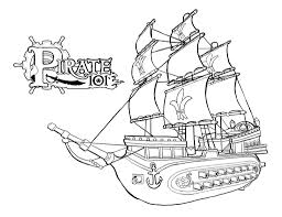 pirate ship coloring pages with eson me