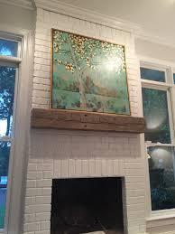 my updated fireplace u0026 reclaimed wood mantel lauren nicole design