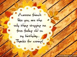 thank you messages for coming to a birthday quotes and notes