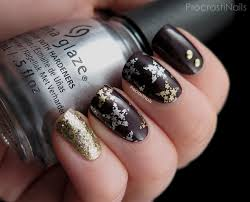 glitter and stars holiday mani with china glaze and maybelline new