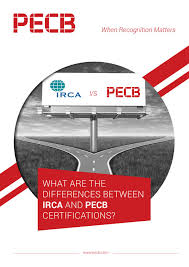 what are the differences between irca and pecb certifications by