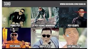 Singapore Meme - international korean act psy is localised in this meme that uses his