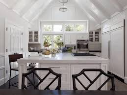 vaulted ceiling kitchens gray and yellow floating wall cabinet