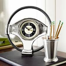 steering wheel desk clock pier 1 imports