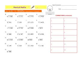 ideas collection grade 5 mental maths worksheets on worksheet