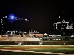 Chicago Cubs Flags Cubs To Leave Wintrust W Lit Up After Wins At Wrigley Field Cubs