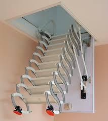 semi automatic retractable attic stair indoor duplex villa home