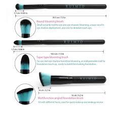 amazon com ruimio makeup brush 10 piece foundation brush for