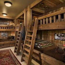 Log Bunk Bed Plans Rustic Bunk House Design Ideas Pictures Remodel And Decor