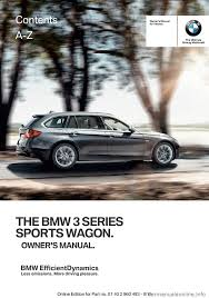 bmw 3 series sports wagon 2016 f31 owner u0027s manual