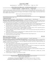download human resources administration sample resume