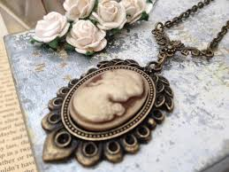 cameo antique necklace images Victorian cameo oval old antique bronze pendant necklace i love jpg