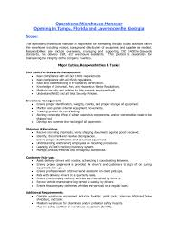 Sample Resume Warehouse Worker by 20 Duties Of A Warehouse Worker For Resume Professional