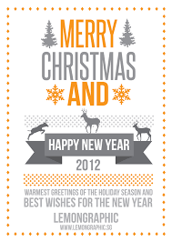 merry and a happy new year lemon graphic singapore