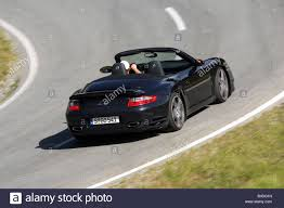 black porsche 911 turbo porsche 911 turbo convertible model year 2007 black driving