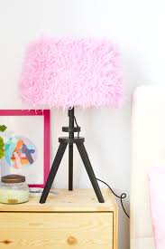 diy pink dyed faux fur lampshade for curbly enthralling gumption