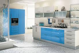 Blue Kitchen Design View Of Modern Kitchen Design Home Decorating Designs