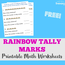 free rainbow tally marks worksheets look we u0027re learning