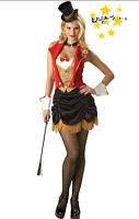 Showgirl Halloween Costume Ringmaster Costume Circus Lion Tamer Mistress Showgirl Fancy Dress