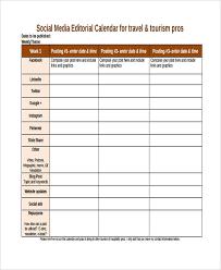 6 editorial calendar templates free word pdf format download