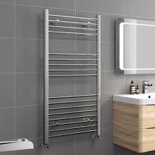 Modern Bathroom Radiators Ibathuk 1200 X 600 Heated Towel Rail Chrome Bathroom