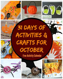 halloween activities and crafts 31 days of october crafts u0026 activities free activity calendar