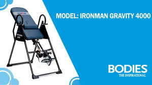 ironman gravity 4000 inversion table review ironman gravity 4000 highest weight capacity inversion table