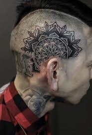 plain mandala head tattoo head tattoo pinterest head tattoos
