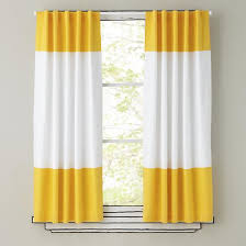 Yellow White Curtains And White Curtain Panels The Land Of Nod