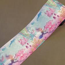 mermaid ribbon shell mermaid ribbon 38mm 75mm printed ribbon