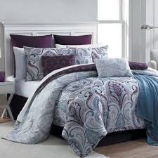 Turquoise And Purple Bedding Essential Home 16 Piece Complete Bed Set Bedrose Plum Home