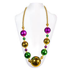 bead necklace long images Jumbo mardi gras bead necklace 44 quot inch kitchen jpg