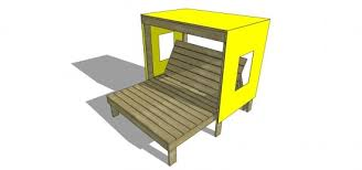 How To Build A Wooden Awning Free Diy Furniture Plans How To Build A Kid U0027s Double Chaise