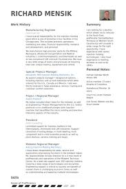 manufacturing engineer resume samples visualcv resume samples