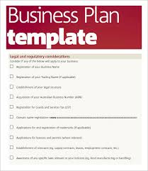 Free Excel Business Plan Template Free Business Plan Template