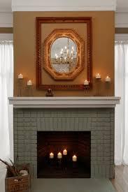 painted brick fireplace makeover how tos diy original