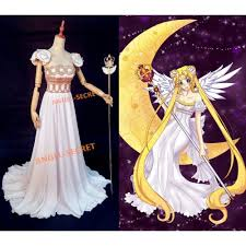 sailor moon cosplay princess gown dress costumes scepter wedding white