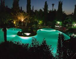 panoramio photo of green heights park swimming pool at night