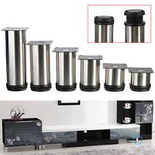 4pcs cabinet legs adjustable stainless steel kitchen feet round