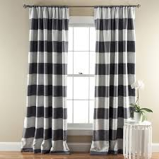 Curtains For Dining Room by Decorating Black And White Horizontal Striped Curtains With