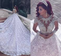 Wedding Dresses Discount Discount Gorgeous Cathedral Train Full Lace A Line Wedding Dresses