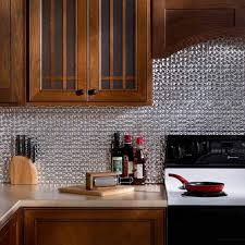 fasade kitchen backsplash panels kitchen fasade backsplash terrain in brushed aluminum silver