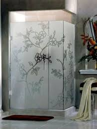 Etched Shower Doors Frosted Mountains Bathroom Windows Frosted Glass Designs Privacy