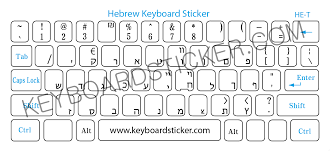 hebrew transparent sticker with black letters 1 99