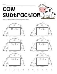 farm subtraction worksheets freebie by the twenty something teacher