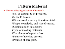 pattern making in metal casting casting terms ppt video online download